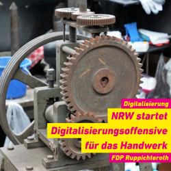 Digitalisierungsoffensive für das Handwerk in NRW