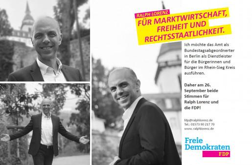 Ralph Lorenz, Bundestagskandidat 2021 für die FDP