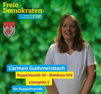 Carmen Gummersbach, Kandidatin der FDP-Ruppichteroth für den Wahlbezirk 070 (Ruppichteroth VII)