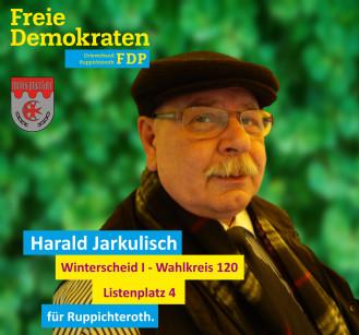 Harald Jarkulisch, Kandidat der FDP-Ruppichteroth im Wahlbezirk 120 (Winterscheid I)
