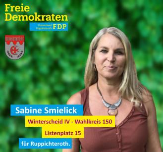 Sabine Smielick, Kandidatin der FDP-Ruppichteroth für den Wahlbezirk 150 (Winterscheid IV)