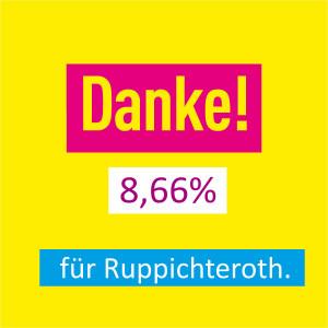 Danke für 8,66% - für Ruppichteroth.